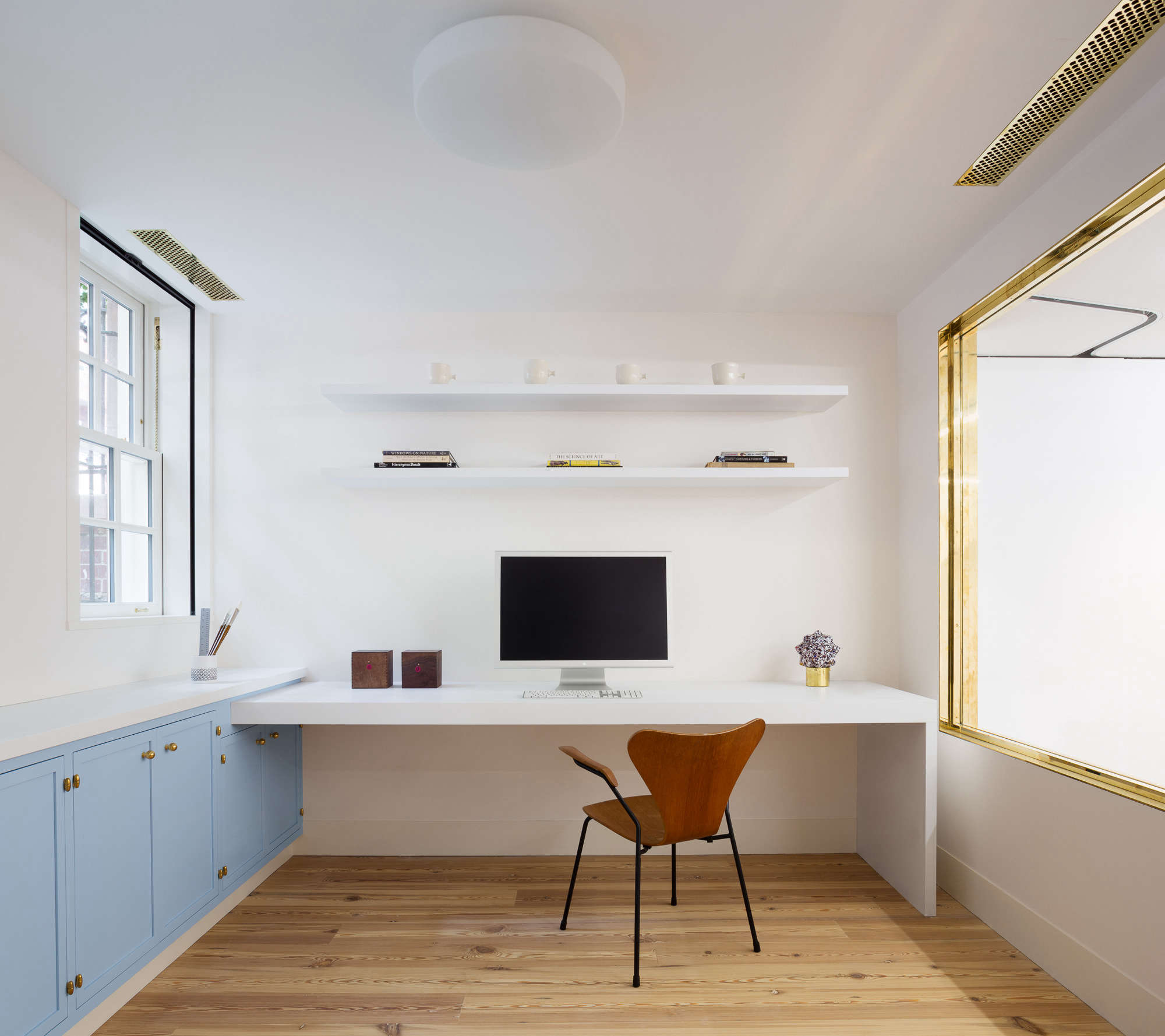Steal This Look: A Minimalist Home Office in Manhattan, Gilded Edition - Remodelista