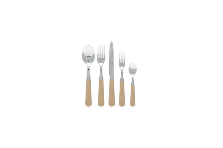 Similar to the vintage flatware that McNamara collects, the Sabre Paris Khaki 5-Piece Place Setting is $76.50 at Yvonne Estelle&#8