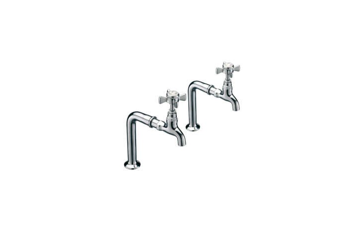 the traditionalchurchmans kitchen pillar tap and stand is £\150.76 at bath 14