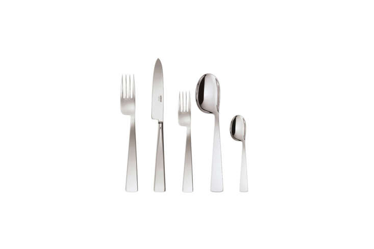 Designed by Gio Ponti, the Conca Stainless Steel 5-Piece Place Setting is $85 from Sambonet.