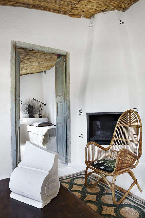 Fireplace in Mediterranean Guest House by Serge Castella