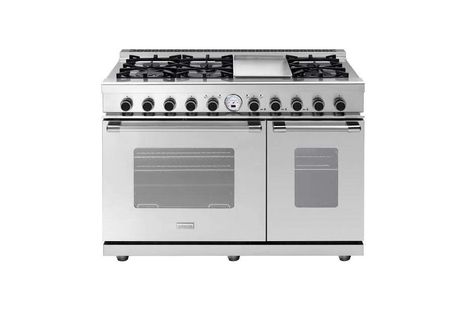 The Superiore Next Classic 48-Inch Gas Range is $6,399 from AJ Madison.