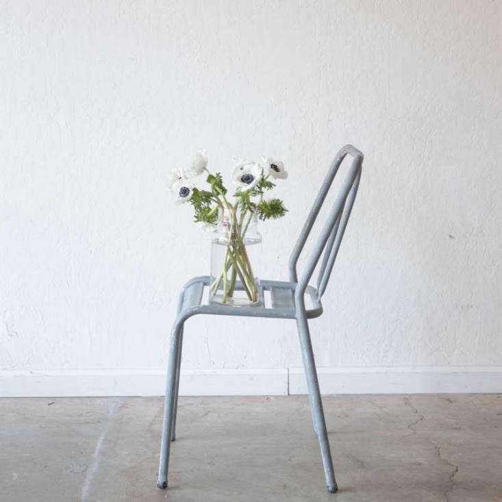 a vintage grey bistro chair, found in france and available via elsie green. 10