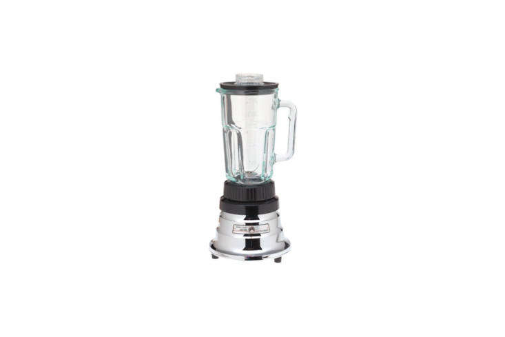 The Waring Professional Kitchen Blender in chrome and black is $5loading=