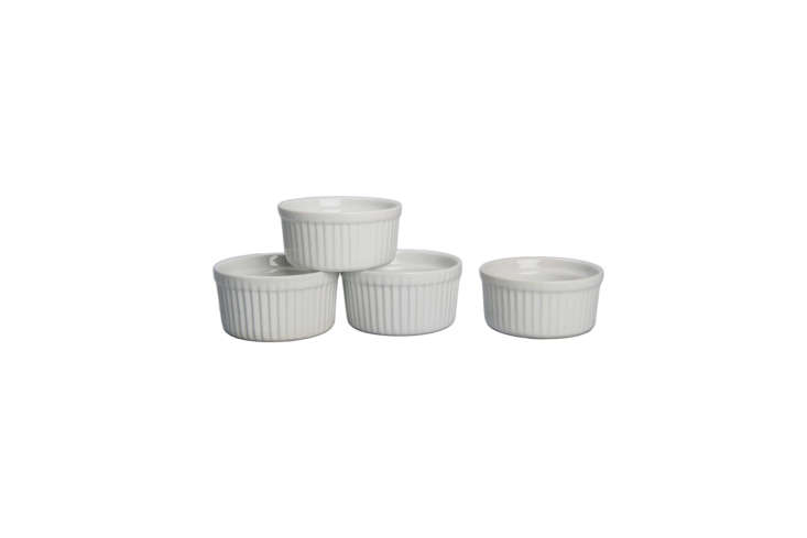 Steal This Look A Chefs Industrial Kitchen in Los Angeles McNamara&#8\2\17;s collection of different sized white ramekins can be replicated, over time, starting with the basics: a Set of 4 Porcelain Ramekins for \$7.99 at Bed, Bath & Beyond.