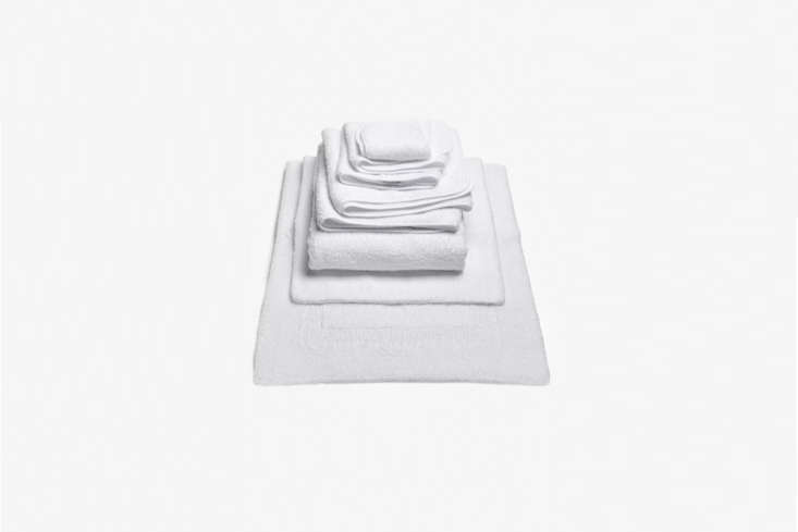 The Abyss & Habidecor Super Pile Bath Towel in White is $84 at ABC Carpet & Home. For more options in different price ranges, see  Easy Pieces: Bath White Bath Towels.