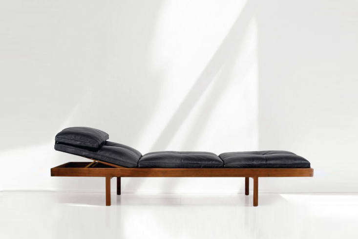 The New Guard 8 Modern Daybeds with Character Bassam Fellows&#8\2\17; &#8\2\20;achingly soft&#8\2\2\1; down filled reclining Daybed has a detachable headrest cushion and a brass back support mechanism that adjusts to three different positions. Contact Bassam Fellows for pricing and ordering information.