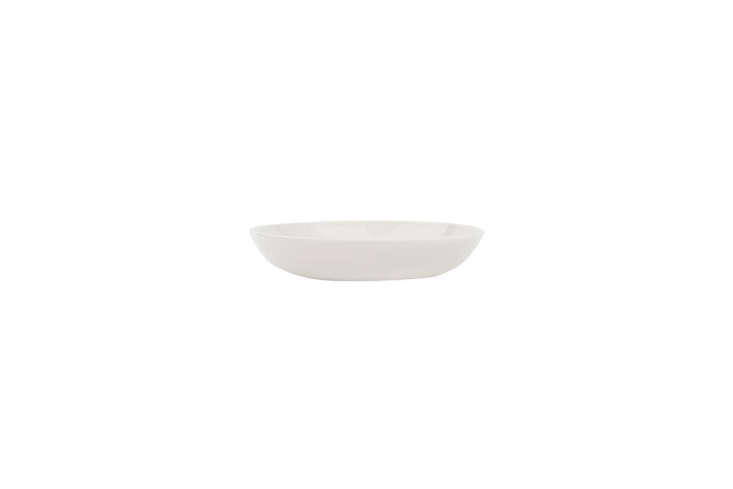 the canvas home shell bisque pasta bowl in white measures eight inches in diame 16