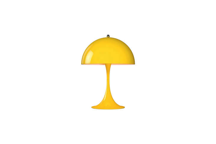 for a lamp in a similar shape and color, try panton&#8\2\17;s panthella min 16