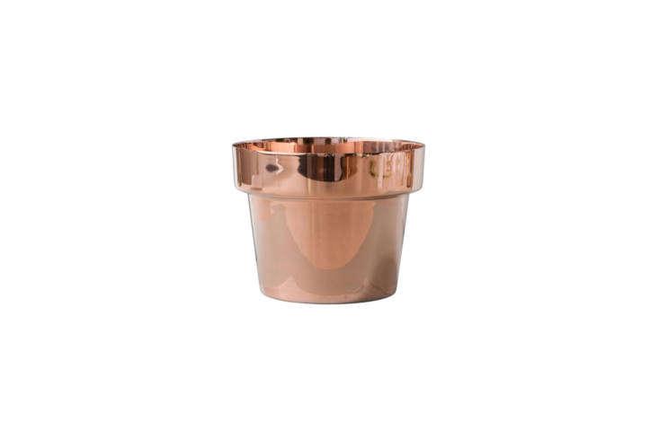 swedish designer monica förster&#8\2\17;s copper flower pot for skultuna r 15
