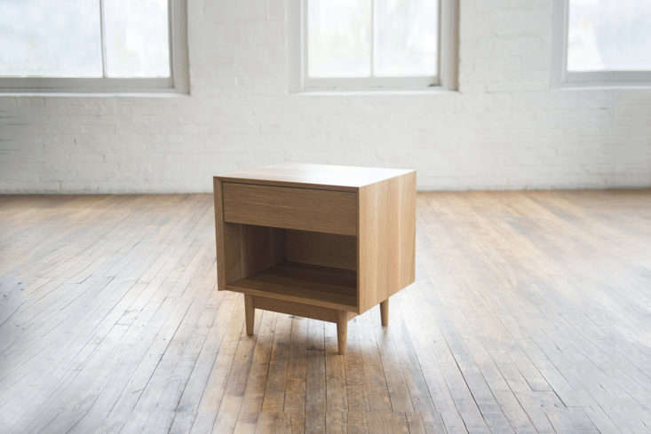 From Phloem Studio of Portland, Oregon, the Colleen Side Table is made from a range of domestic hardwoods: western curly maple (shown), ash, cherry, walnut, rift white oak, and western walnut. Each piece is crafted in the studio to order and requires a lead time of 8 to loading=