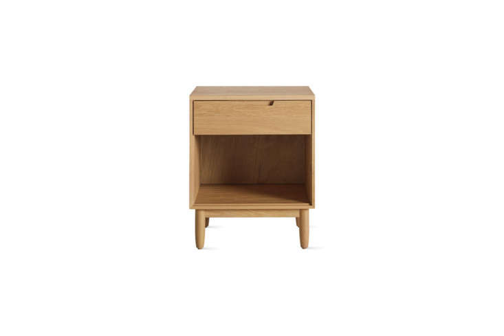 The Raleigh Bedside Table is a Design Within Reach exclusive and available in oak (shown) and walnut for $995.