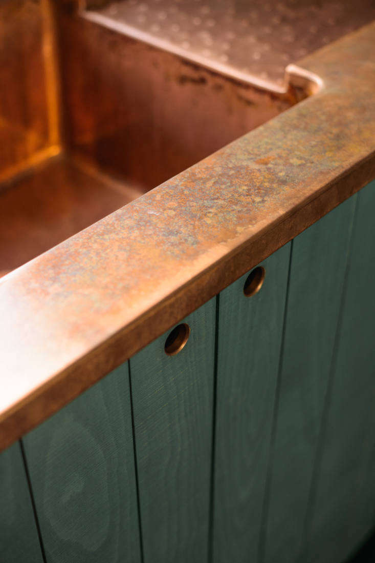 The integrated copper sink. &#8