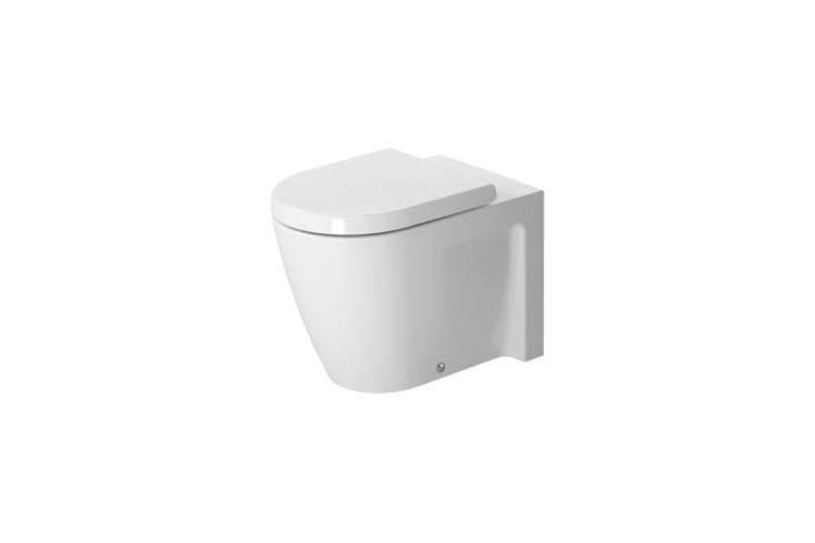 The Duravit Starck Floorstanding Toilet is designed by Philippe Starck and available for $9. at Quality Bath.