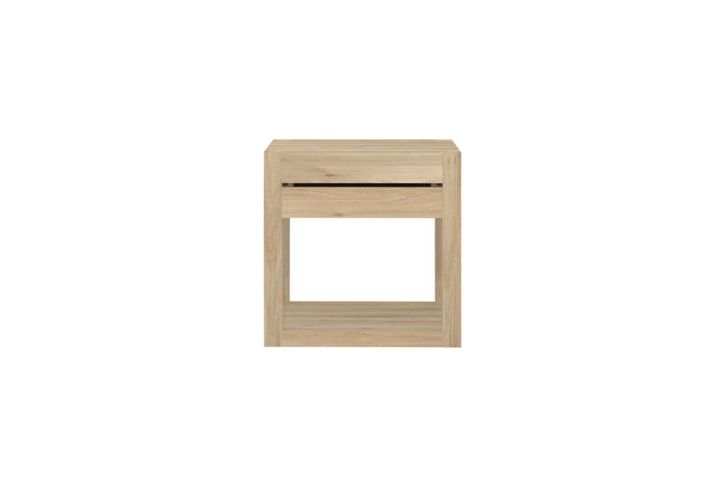 The Oak Azur Nightstand from Ethnicraftis made in Europe from sustainably sourced solid oak that is kiln-dried to ensure hardness. The nightstand has a self-closing drawer on an easy glide, under-mounted track; $4 from Lekker Home.