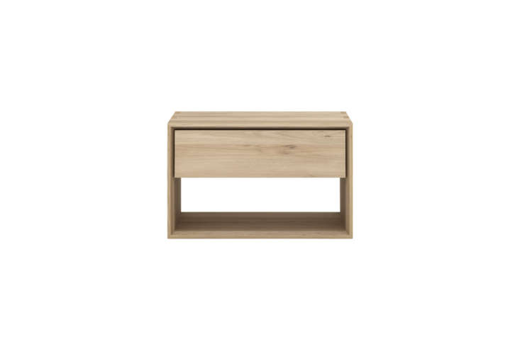 From Belgian company Ethnicraft,theOak Nordic Nightstand has a European easy glide drawer and lower storage space; it&#8