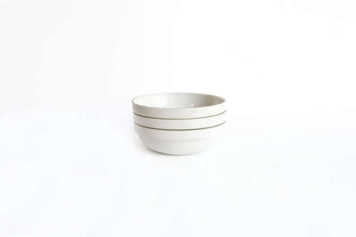hasami porcelain makes a 7.\25 inch gloss grey medium rounded bowl; \$38 each a 9