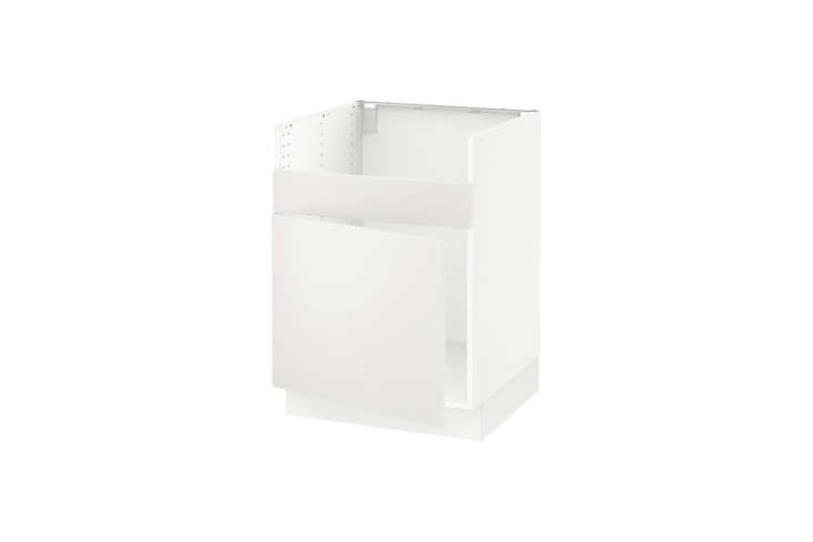 The base cabinet that coordinates with the apron front farmhouse sink is Ikea&#8