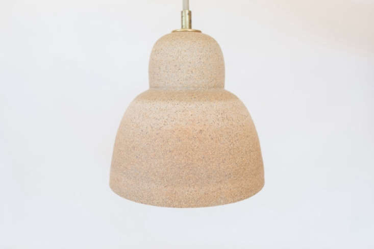 Each fixture includes a wheel-thrown ceramic canopy for ceiling installation and is professionally wired with a nine-foot cotton-covered pulley cord with brass hardware.