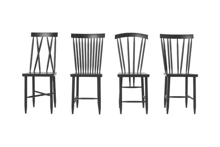 10 Easy Pieces The Windsor Chair Revisited Designed by Lina Nordqvist for Design House Stockholm, theFamily Chairs are a \2\1st century take on the Swedish style Windsor with a stick back. Each chair in the set of four has a different spindle design. You can source three of the four designs; \$58\1.80 for two at Danish Design Store.