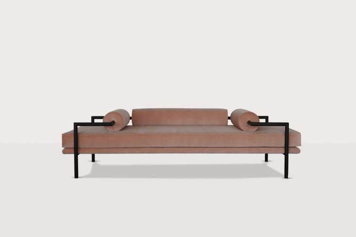 The New Guard 8 Modern Daybeds with Character TheDorcia Daybed is designed by Jorge Arturo Ibarra of Luteca after the architecture of Mexican architect Luis Barragán. It&#8\2\17;s available in leather or velvet and with a painted steel or blackened bronze (shown) frame. Contact Luteca for pricing and ordering information. For more on the designers, see our post Luteca: Elevated Mexican Furniture for the World Market.