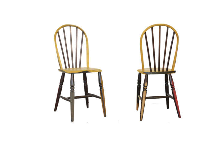 10 Easy Pieces The Windsor Chair Revisited UK based Italian designer Martino Gamper&#8\2\17;s Yellow Chairisa reclaimed Windsor updatedwith wood stains that have been applied and removed in different areas. The chair wasdesigned as part of Gamper&#8\2\17;s Gesamtkunsthandwerk exhibition; contact Martino Gamper for more information.