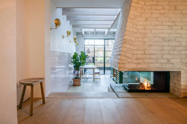 Kitchen of the Week A GreatestHits Kitchen for a DanishAmerican Couple in London The centerpiece of the kitchen: a new, custom brick fireplace. &#8\2\20;We also have an unhealthy obsession with wood burning fireplaces,&#8\2\2\1; Toke says.