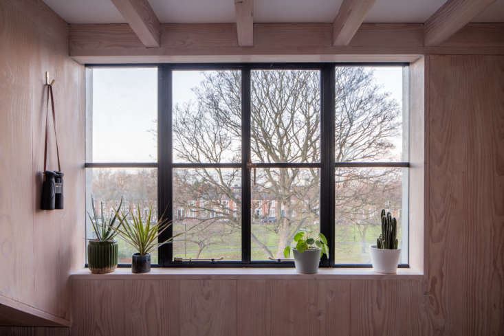 Kitchen of the Week A GreatestHits Kitchen for a DanishAmerican Couple in London An upstairs window with a generous sill for plants. The wall hook is theSolid Brass Hook With Polished Edge, currently unavailable from Etsy shop Atifakuto.