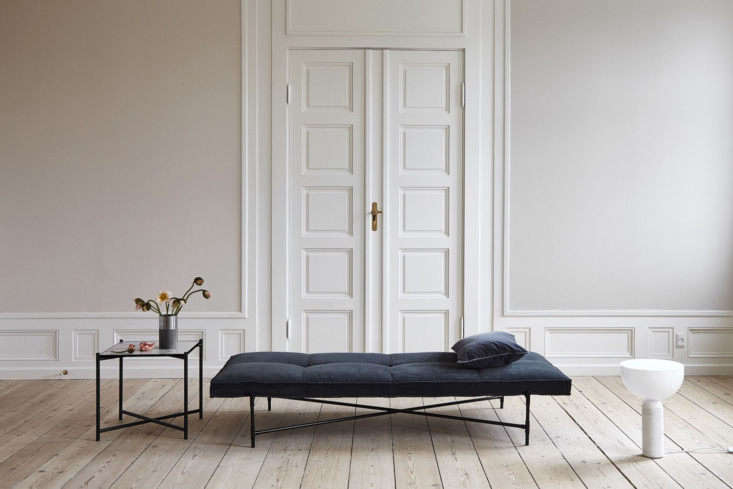 from nest, thehandvark daybed is made of aniline leather that meets an elegan 15