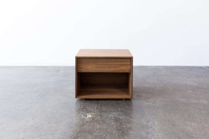 From SF-based studio Ohio Design, the Jake Nightstand has an open bottom and a single drawer that&#8