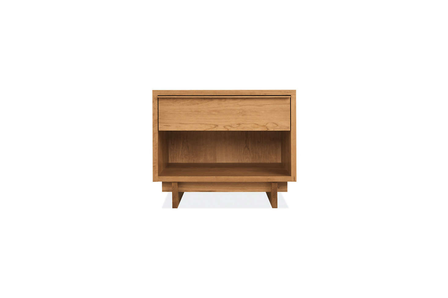 TheAnton Nightstand, shown in cherry, is made in North Dakota and finished in either an oil-and-wax or clear lacquer finish; $749 at Room & Board.