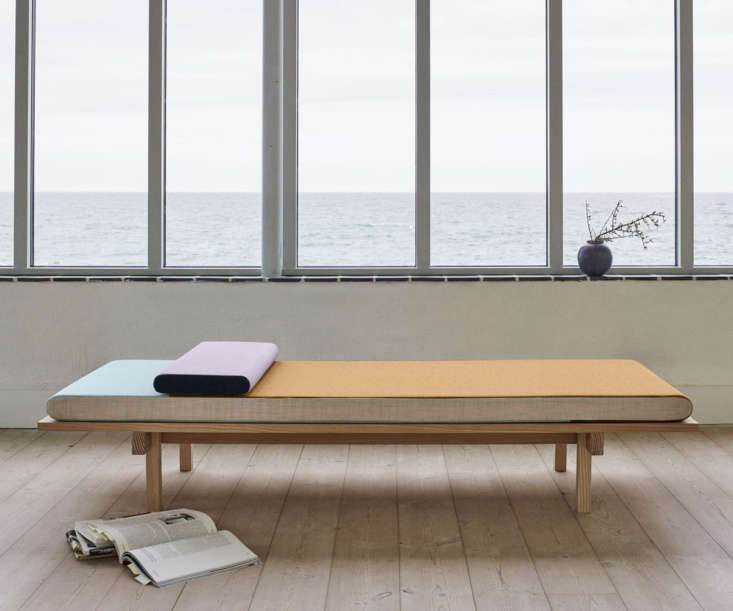 The New Guard 8 Modern Daybeds with Character Influenced by the shapes and reflections of Reykjavík's colorful corrugated steel roofs, Skagerak's Reykjavik Daybed is available in a palette of powder, lavender, and dark peach upholstery. The color balance of the mattress can be changed by flipping it; \$5,499 at Connox.