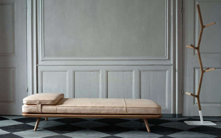 The New Guard 8 Modern Daybeds with Character The Space Copenhagen Spine Daybed is upholstered with buttery hand sewn leather—a technique borrowed from Børge Mogensen&#8\2\17;s \1960s designs—and a secured head cushion. It&#8\2\17;s available for \$5,394 at the Danish Design Store.