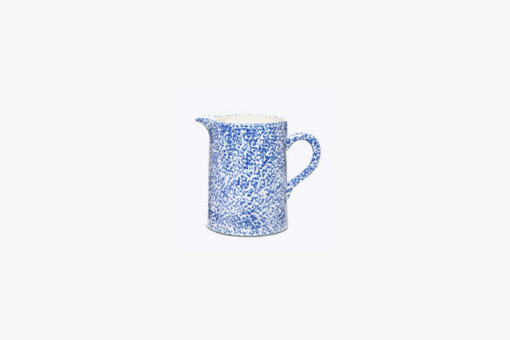 For something similar to the vintage spongeware pitcher and teapot in the kitchen, a Classic Spongeware Pitcher can be found for $98 from Tory Burch.