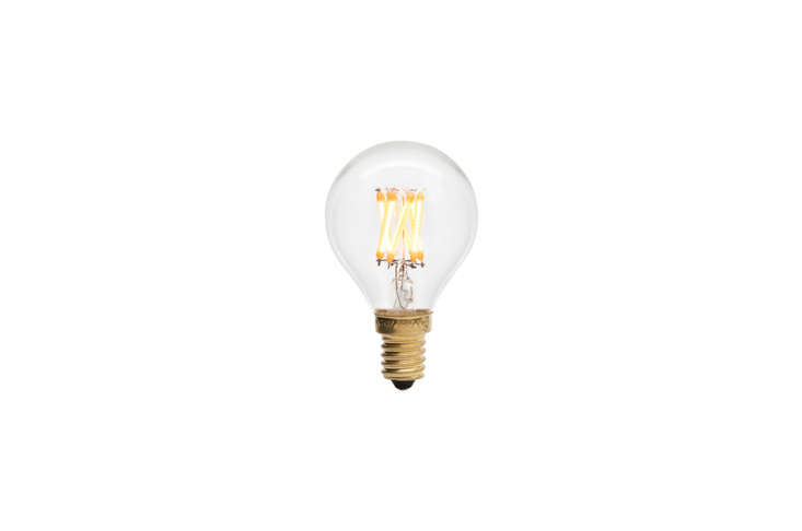 ThePluto 3 Watt light bulb has a traditional shape and filament pattern. Shown here in clear glass, it&#8
