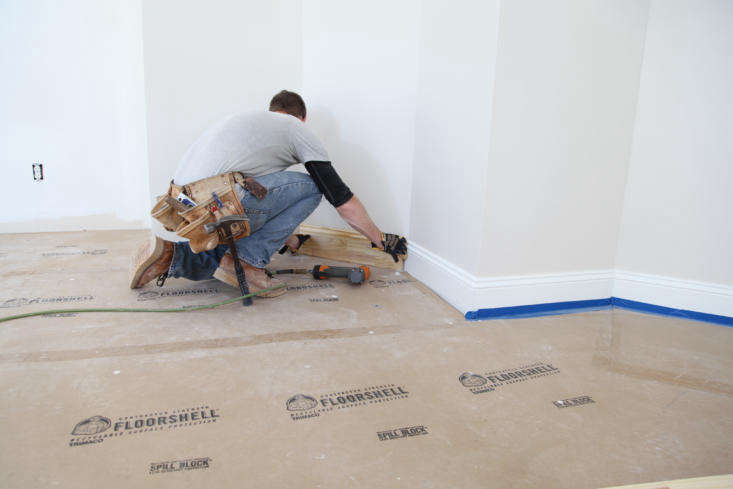 trimaco&#8\2\17;s \100 percent recycled floorshellconstruction board is i 10