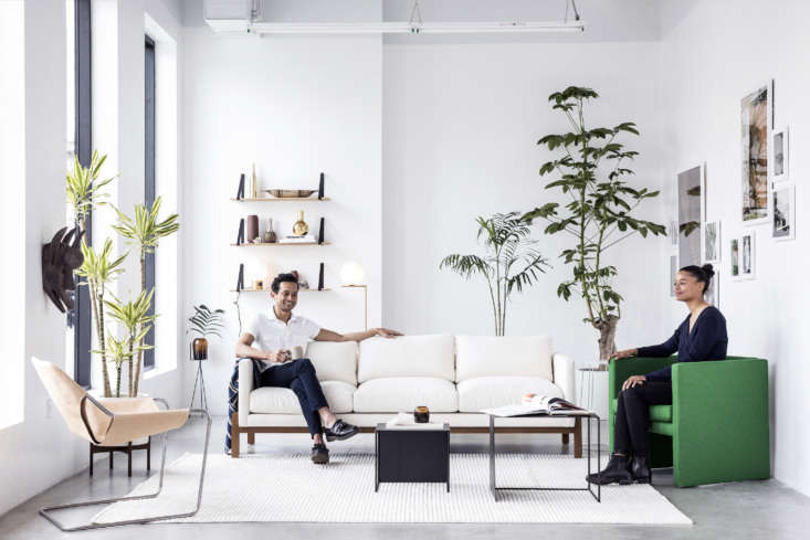 Shoppers Diary New Furniture Designs from Home Enthusiasts TRNK Dixon (at left) sits on the TRNK designed Truss Sofa in ivory (it&#8\2\17;s one of our picks for the \10 best &#8\2\20;First Sofas&#8\2\2\1; Under \$3,000).