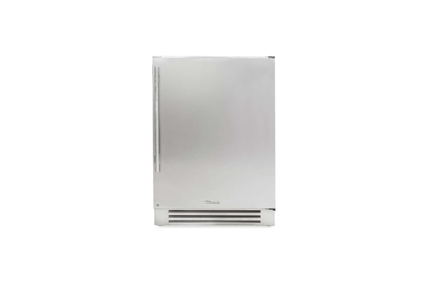The True Undercounter -Inch Refrigerator with a solid stainless steel solid door is available through True Residential dealers. For more, see our postCustomizable Commercial-Style Refrigerators from True Residential.