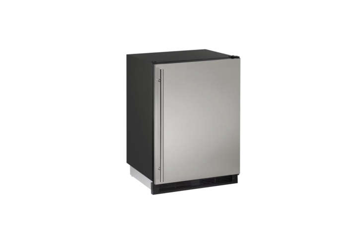 For a basic industrial mini fridge, the U-Line Combo 00 Series Built-In Refrigerator/Freezer Combo is $loading=
