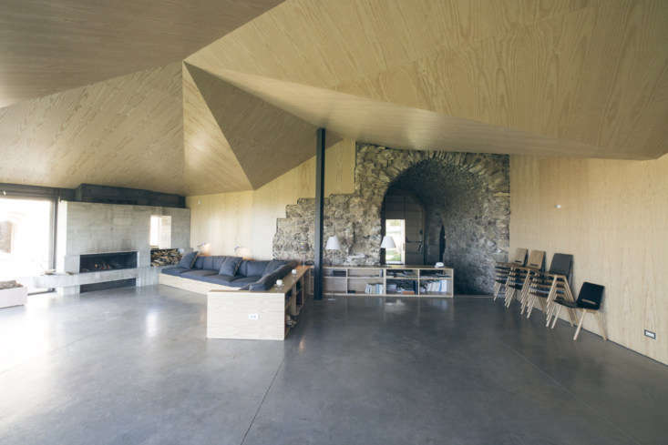 the main building is divided into two big rooms—this one, used for workshops  11