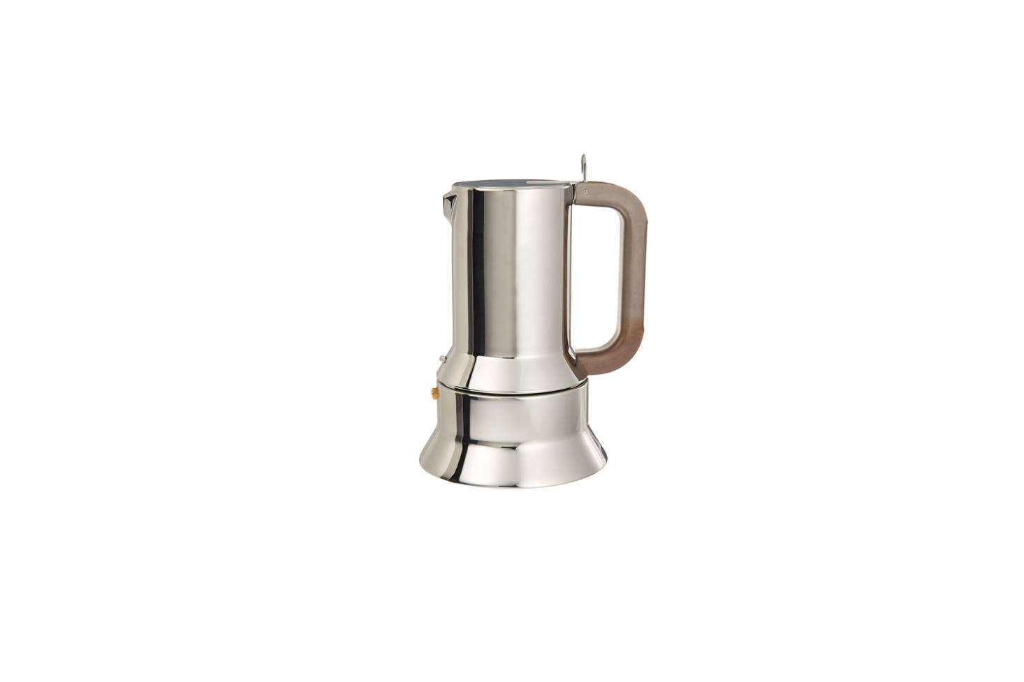 On the stove is an Alessi 9090 Coffee Maker, designed in 79 by Richard Sapper. It&#8