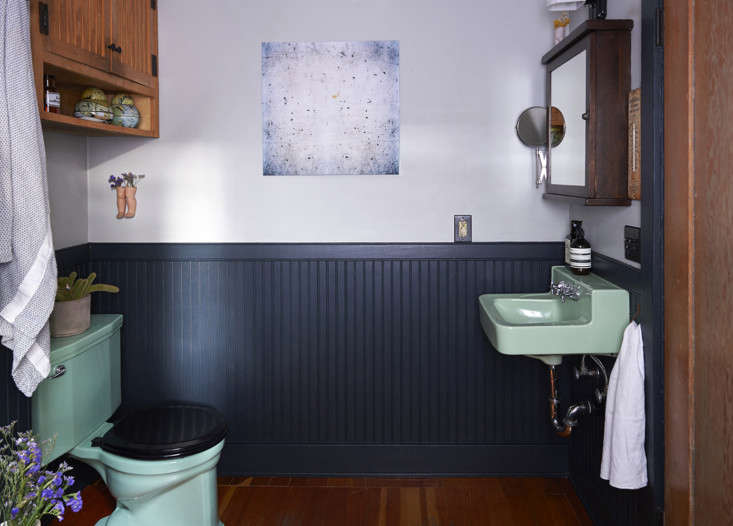 A finalist in our  Considered Design Awards, the owners of this Echo Park home used salvaged fixtures in their eclectic bath. See more inOld Echo Park: A Bathroom Reconstructed.