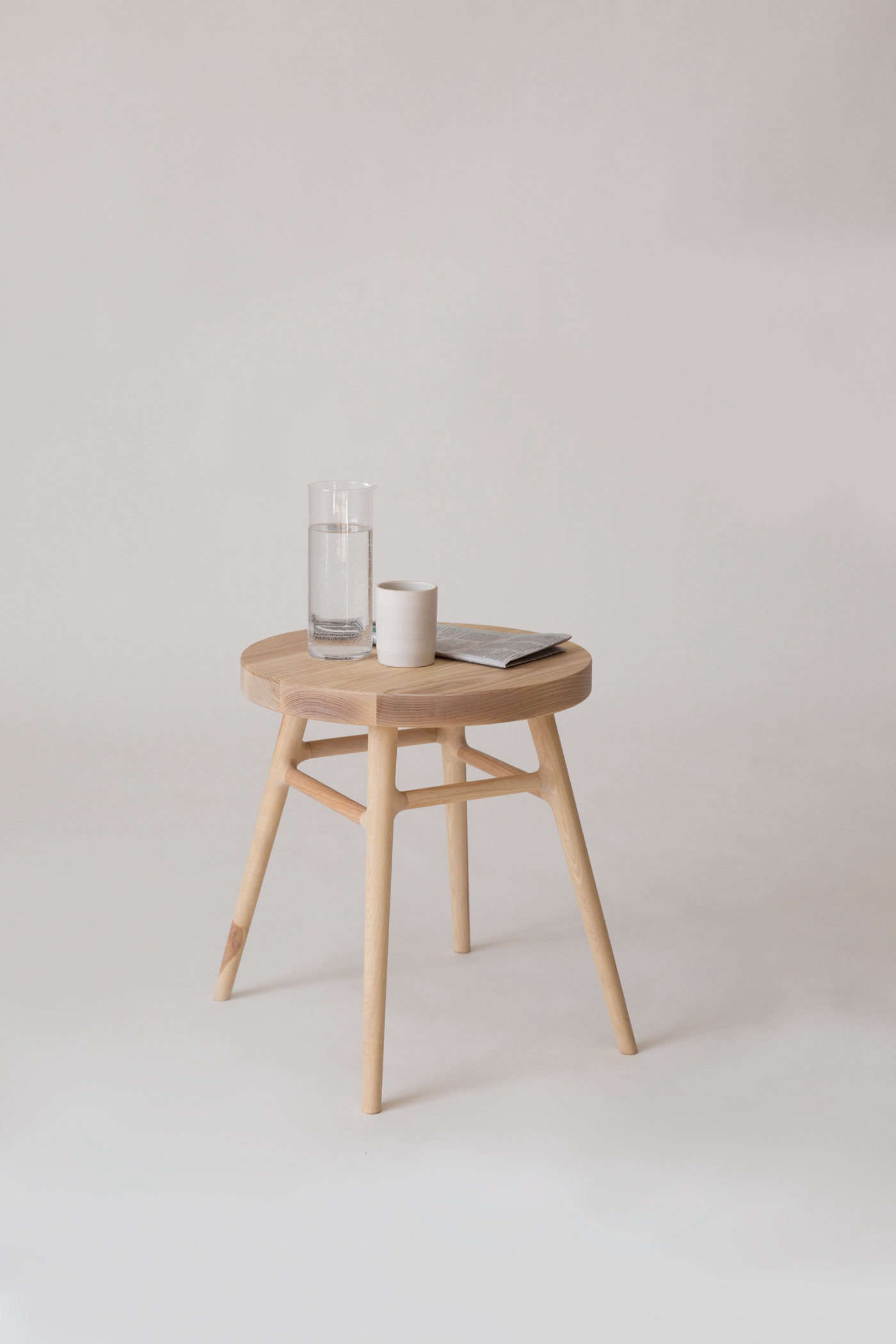 The Bough Stool makes for a sleek end seat or side table. It&#8