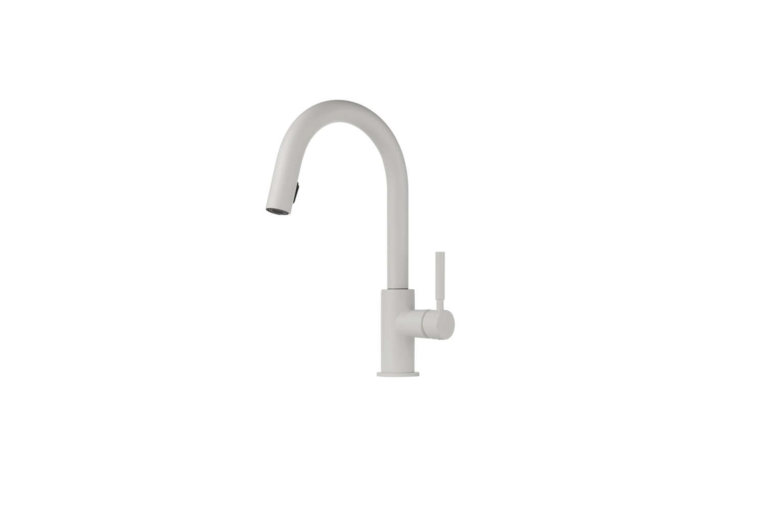 The Brizo Solna Kitchen Faucet with Pullout Spray in matte white is $44loading=