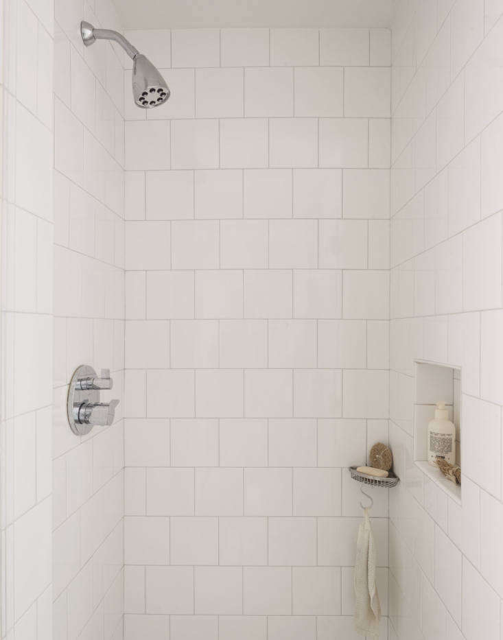 The shower fittings are from Dornbracht, via AF Supply.