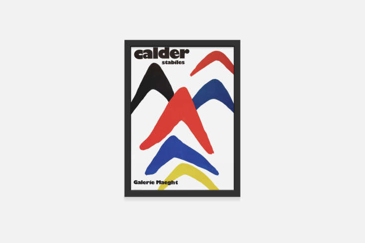 The couple bought the Calder print on a trip to the Maeght Foundation in Saint Paul de Vence, France. You can find the Calder Stabiles Framed Print for $0 at the MoMA Design Shop or a vintage version on loading=