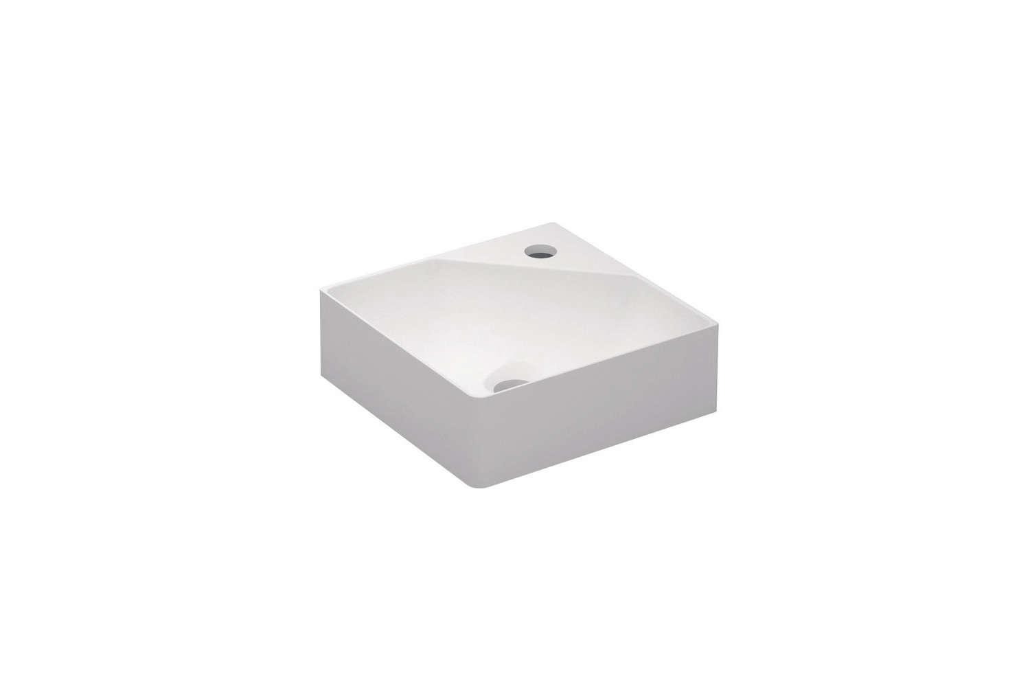 thecosmic fancy corner washbasin is made from teckstone and available in glos 12