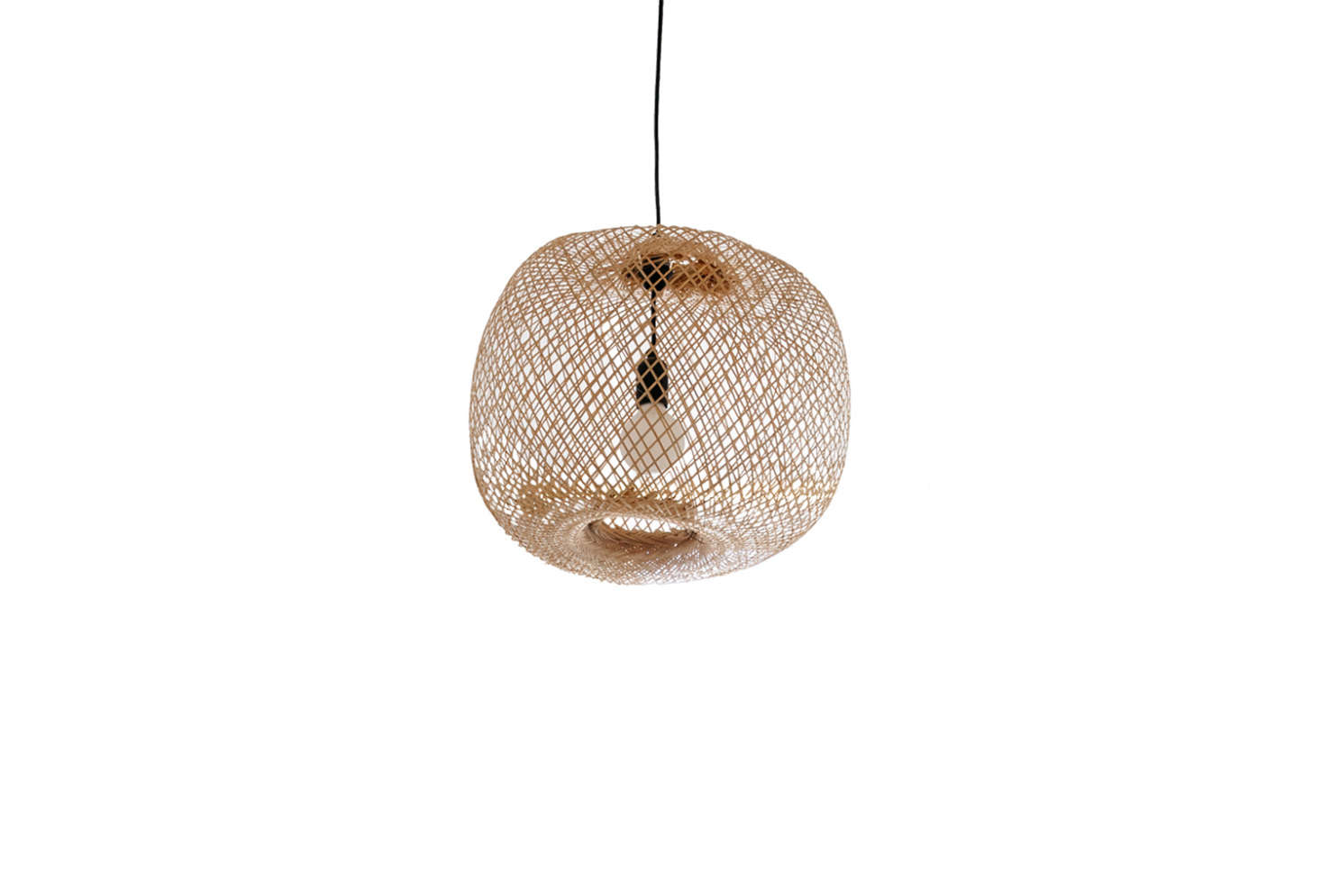 The Round Bamboo Pendant Light is from Couleur Locale; €9.