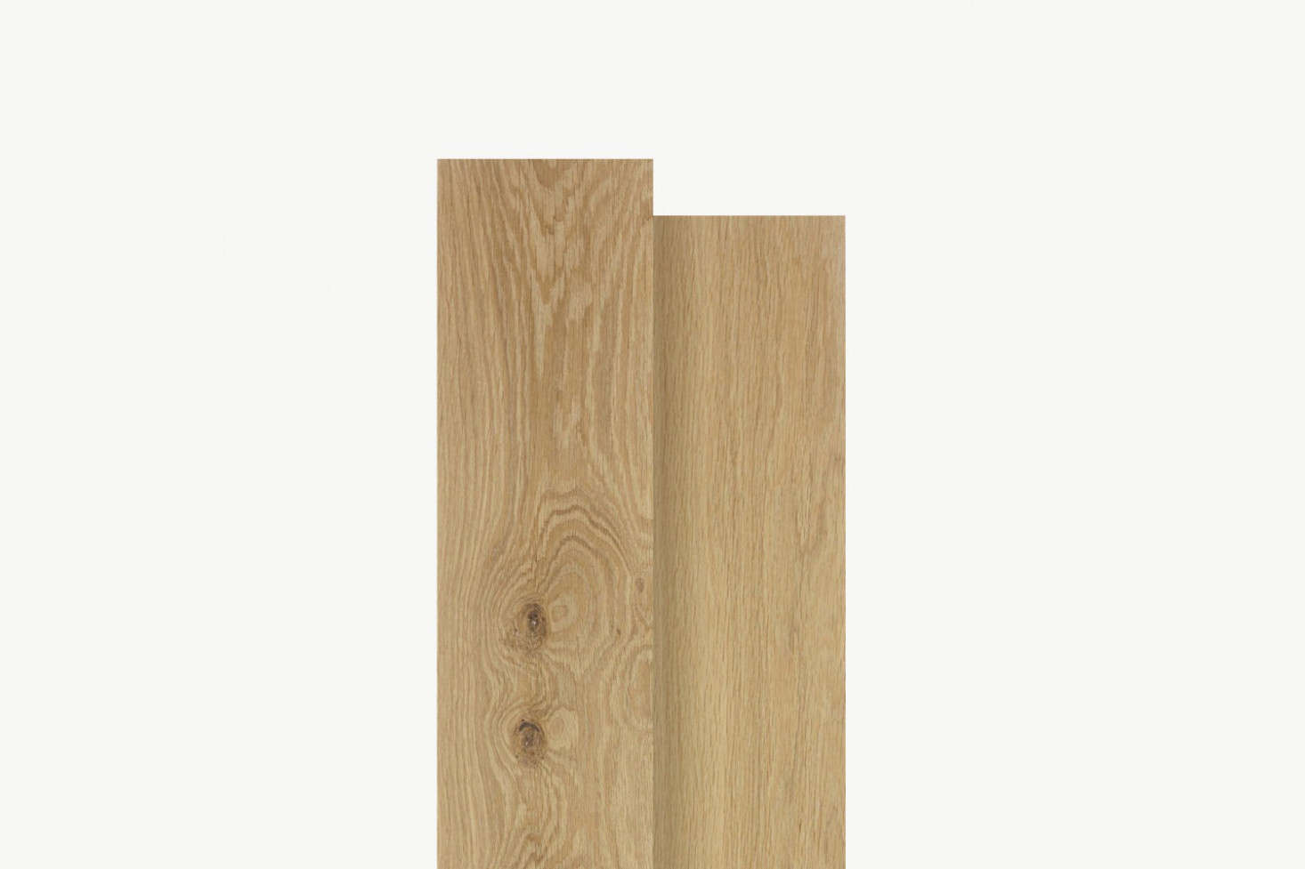 Floors throughout the house are Dinesen Oak Classic planks.
