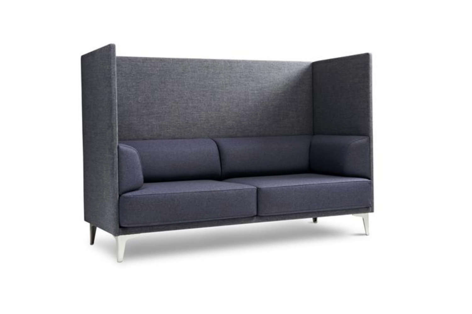 The EJ 400 Apoluna Box Sofa with an extra high back is designed by Studio Hannes Wettstein for Erik Jørgensen as a sheltered space for the living room. It&#8